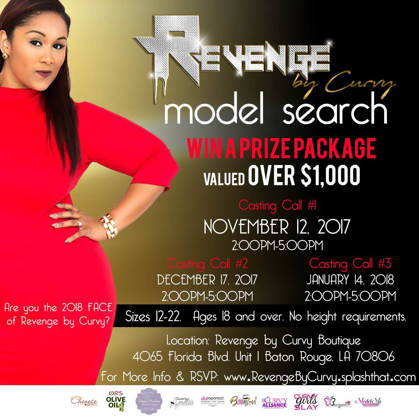Chenese Set To Judge Revenge By Curvy Model Search - Chenese Lewis